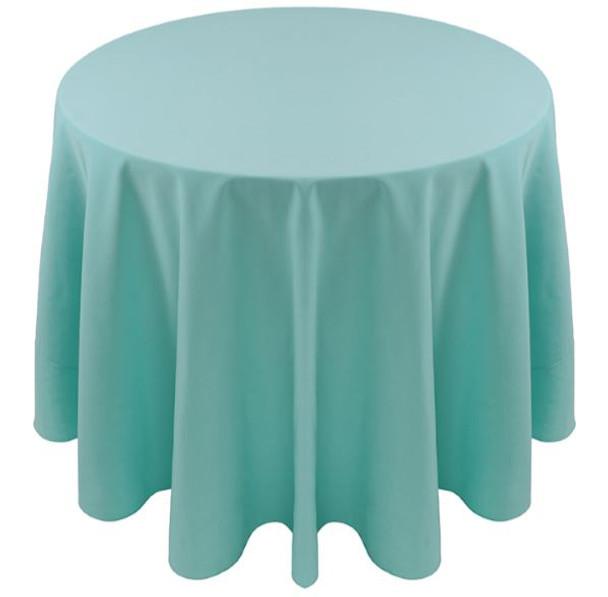Spun Polyester Tablecloth Linen-Aqua