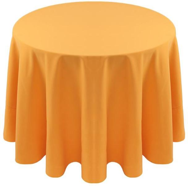 Spun Polyester Tablecloth Linen-Athletic Gold