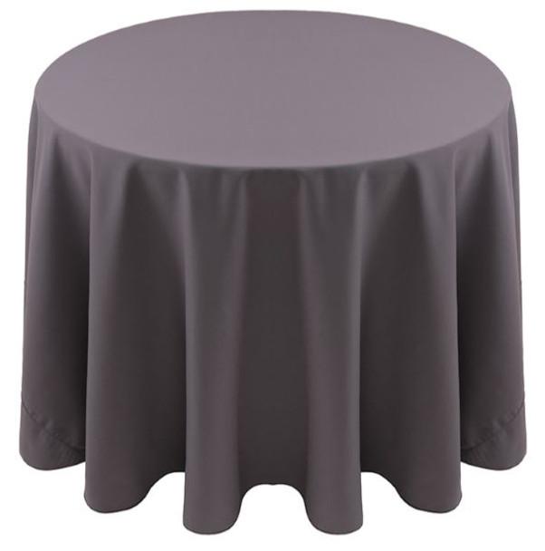 Spun Polyester Tablecloth Linen-Charcoal