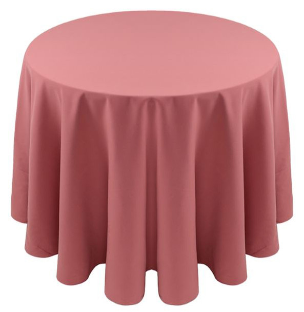 Spun Polyester Tablecloth Linen-Dusty Rose