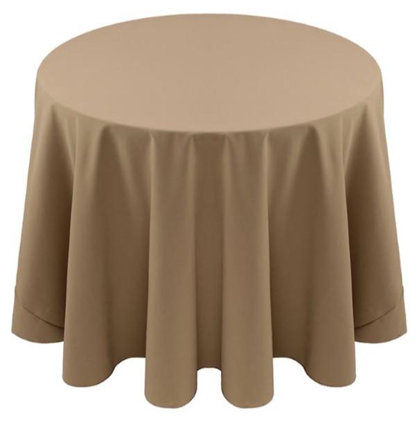 Spun Polyester Tablecloth Linen-Khaki