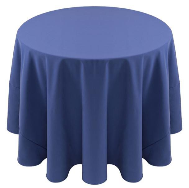 Spun Polyester Tablecloth Linen-Cadet Blue