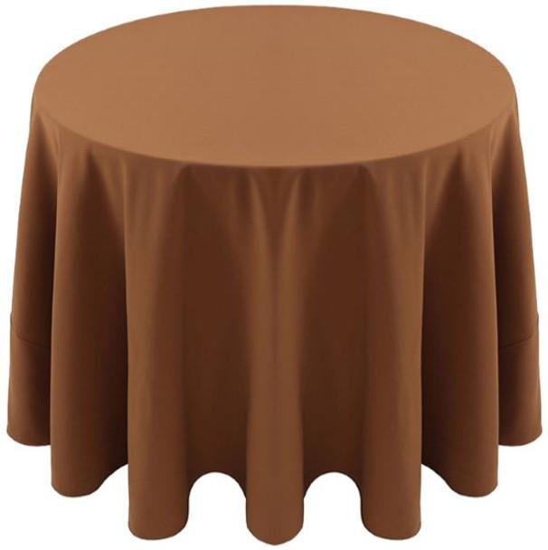 Spun Polyester Tablecloth Linen-Bronze
