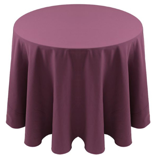 Spun Polyester Tablecloth Linen-Claret