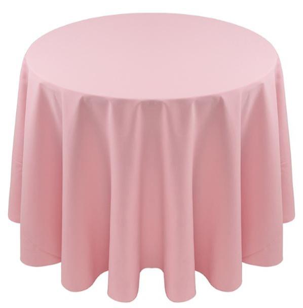 Spun Polyester Tablecloth Linen-Light Pink