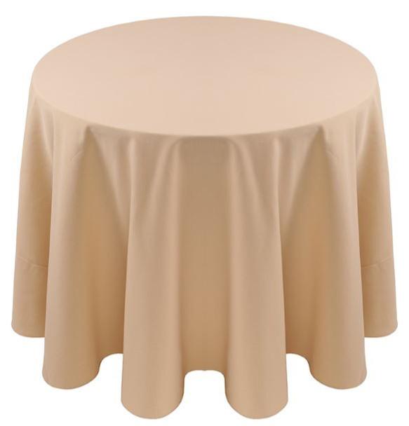 Spun Polyester Tablecloth Linen-Rice Paper