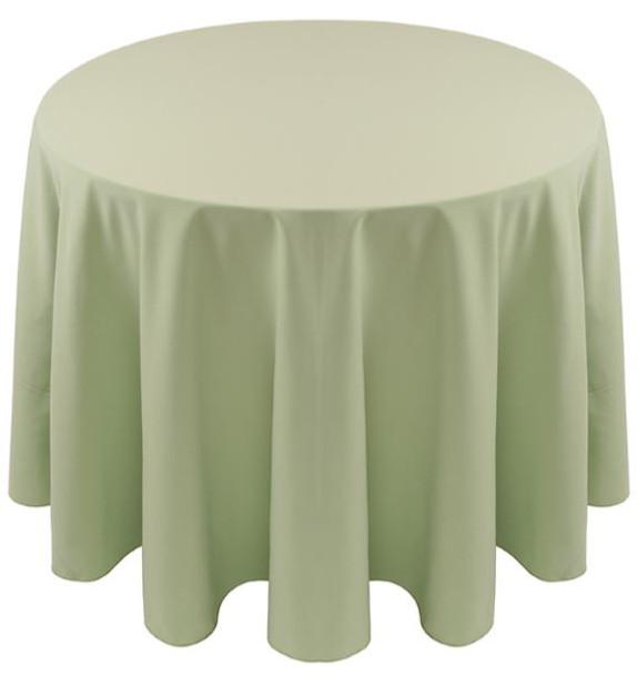 Spun Polyester Tablecloth Linen-Seafoam