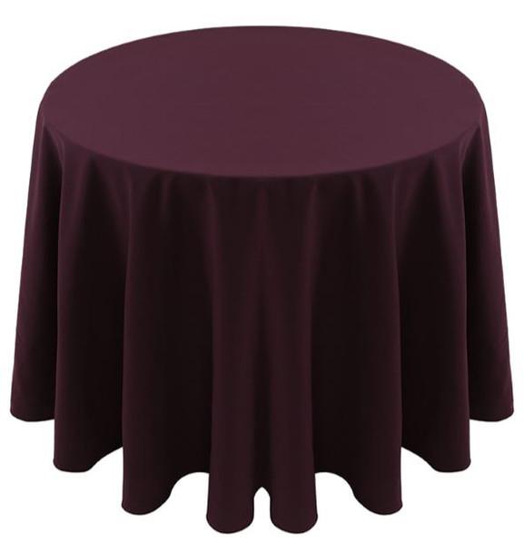 Spun Polyester Tablecloth Linen-Eggplant