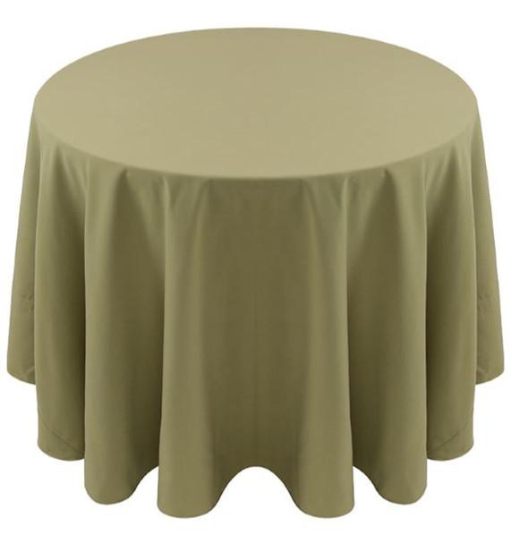 Spun Polyester Tablecloth Linen-Light Olive
