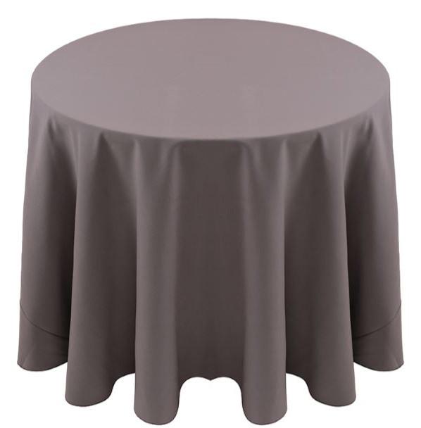 Spun Polyester Tablecloth Linen-Thunder Gray