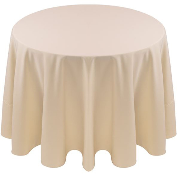 Spun Polyester Tablecloth Linen-Ivory