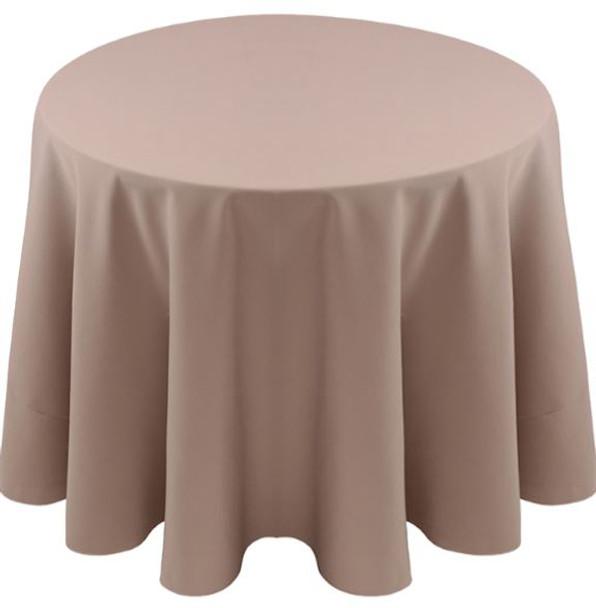 Spun Polyester Tablecloth Linen-Taupe