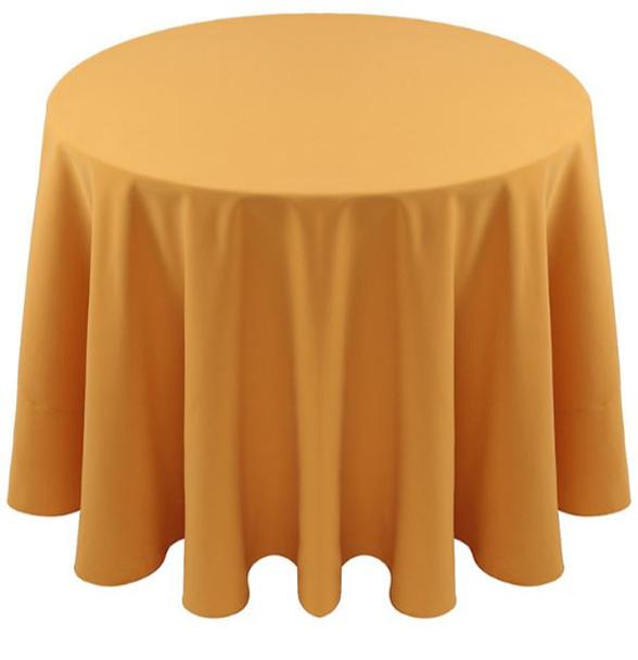 Spun Polyester Tablecloth Linen-Gold