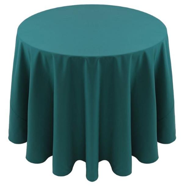 Spun Polyester Tablecloth Linen-Teal