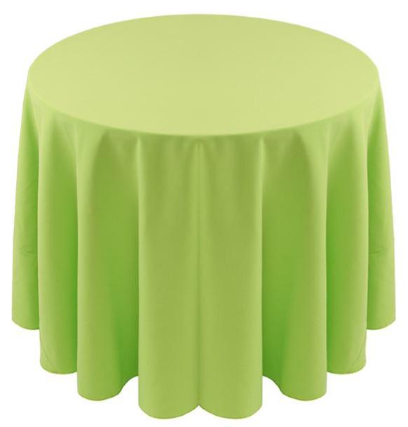 Spun Polyester Tablecloth Linen-Lime