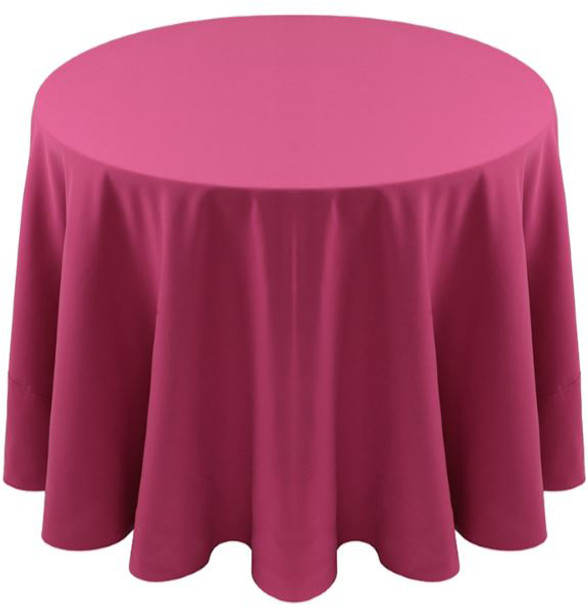 Spun Polyester Tablecloth Linen-Raspberry