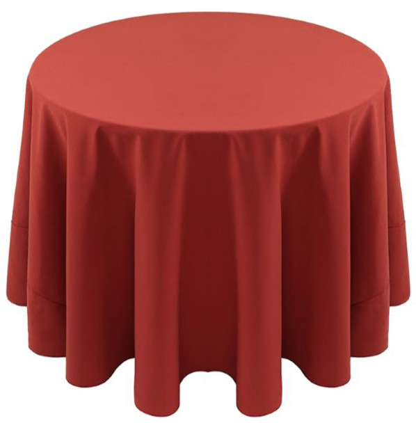 Spun Polyester Tablecloth Linen-Rust