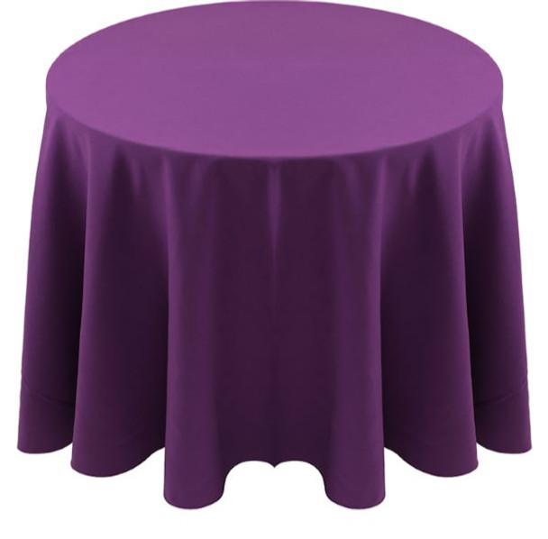 Spun Polyester Tablecloth Linen-Grape