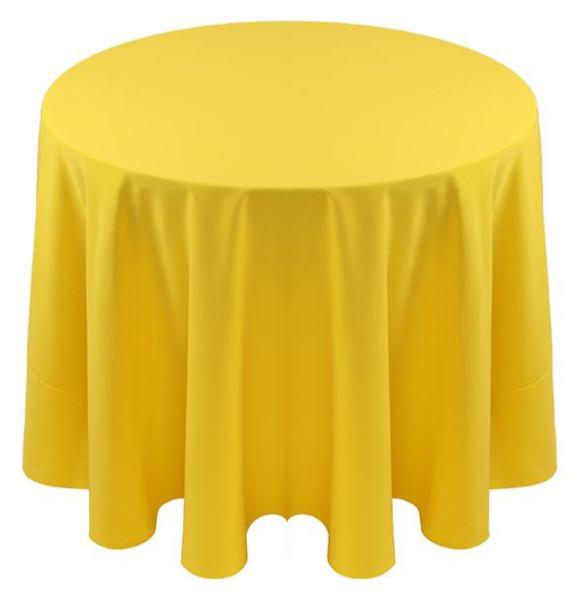Spun Polyester Tablecloth Linen-Lemon
