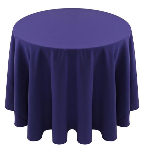 Spun Polyester Tablecloth Linen-Purple