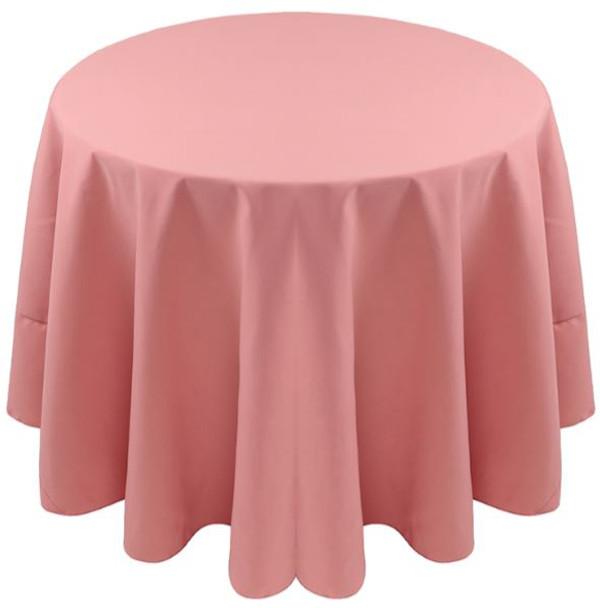 Spun Polyester Tablecloth Linen-Woodrose