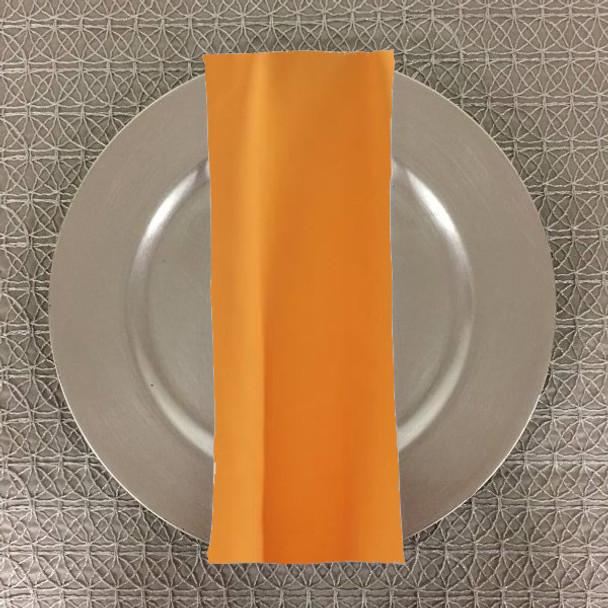 Dozen (12-pack) Spun Polyester Table Napkins-Athletic Gold