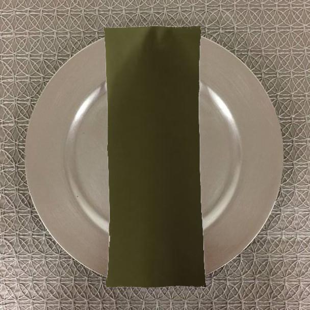Dozen (12-pack) Spun Polyester Table Napkins-Dark Olive