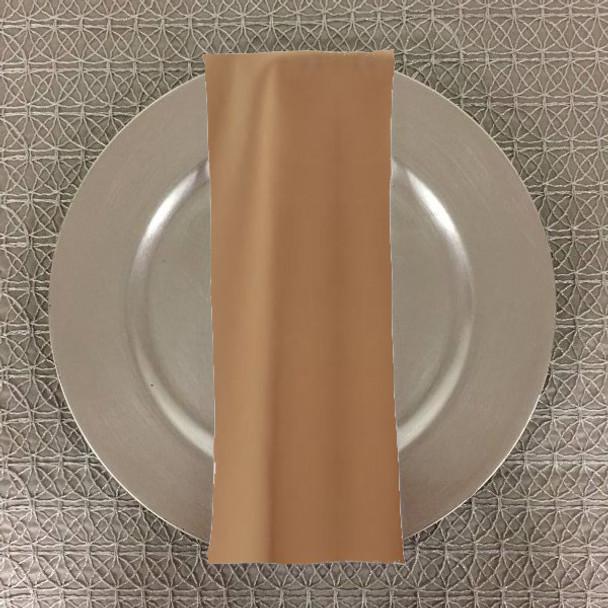 Dozen (12-pack) Spun Polyester Table Napkins-Camel