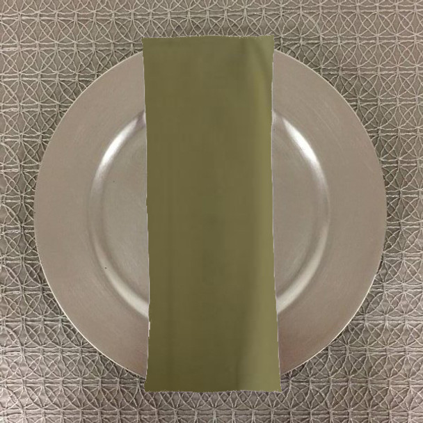Dozen (12-pack) Spun Polyester Table Napkins-Light Olive