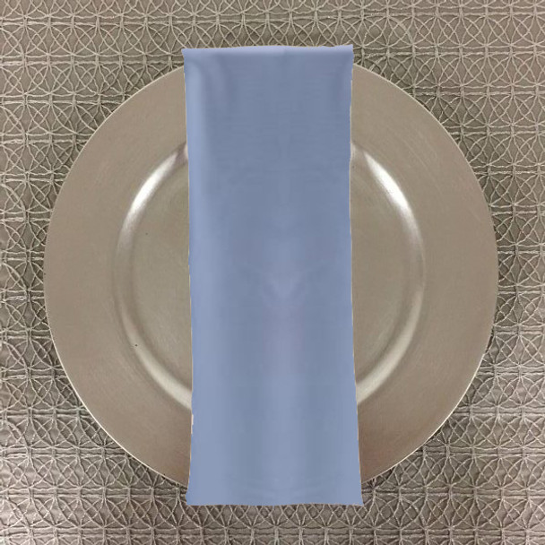 Dozen (12-pack) Spun Polyester Table Napkins-Light Blue