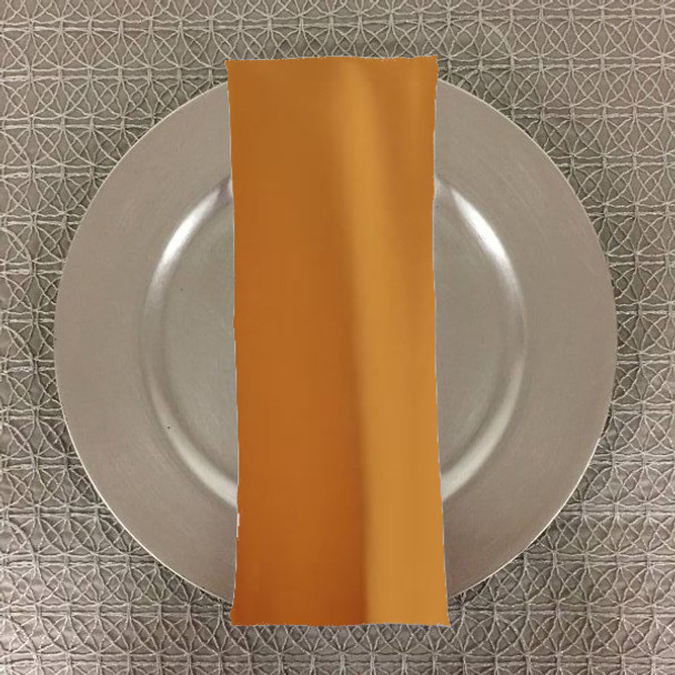 Dozen (12-pack) Spun Polyester Table Napkins-Gold