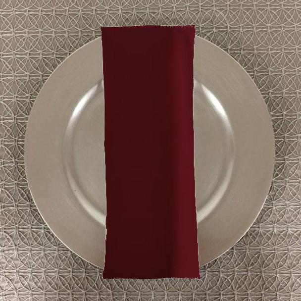 Dozen (12-pack) Spun Polyester Table Napkins-New Burgundy