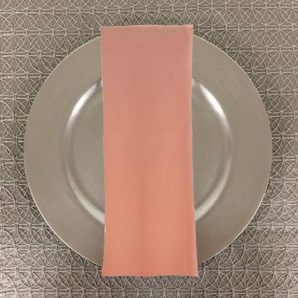 Dozen (12-pack) Spun Polyester Table Napkins-Peach