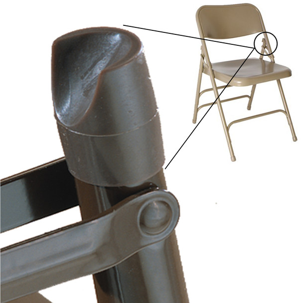 "Individual Pieces - Plastic Stability Caps for Metal and Padded Folding Chairs, Fits 7/8"" OD Tube"