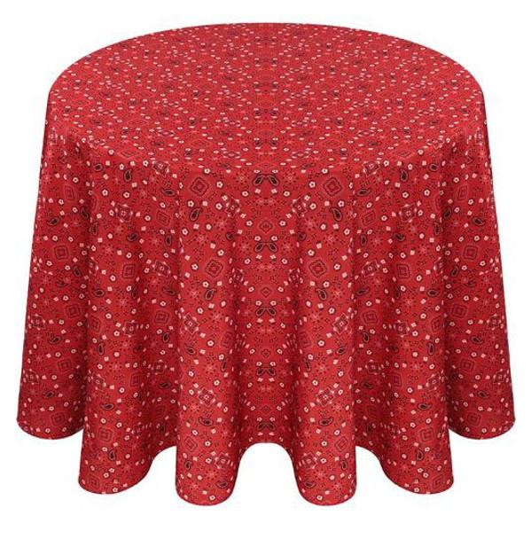Bandana Print Polyester Tablecloth Linen
