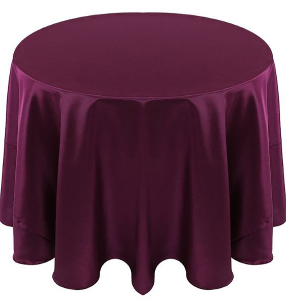 Solid Bengaline Textured Tablecloth Linen-Amethyst