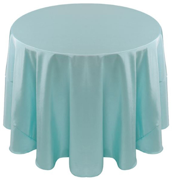 Solid Bengaline Textured Tablecloth Linen-Aqua