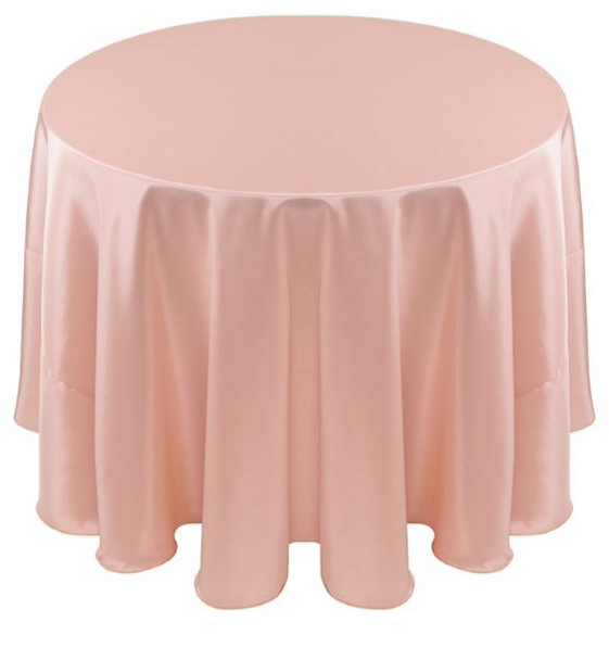 Solid Bengaline Textured Tablecloth Linen-Blush