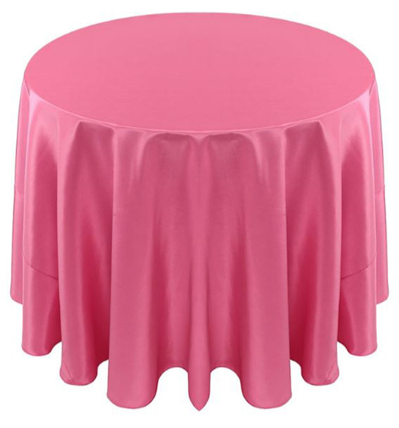Solid Bengaline Textured Tablecloth Linen-Bubble Gum