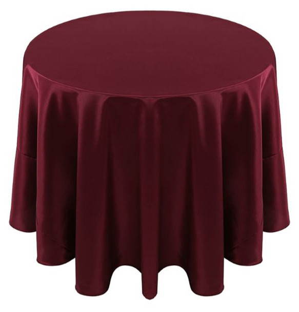 Solid Bengaline Textured Tablecloth Linen-Burgundy
