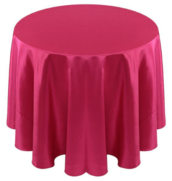 Solid Bengaline Textured Tablecloth Linen-Cerise