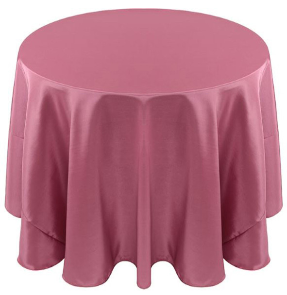 Solid Bengaline Textured Tablecloth Linen-Dusty Rose