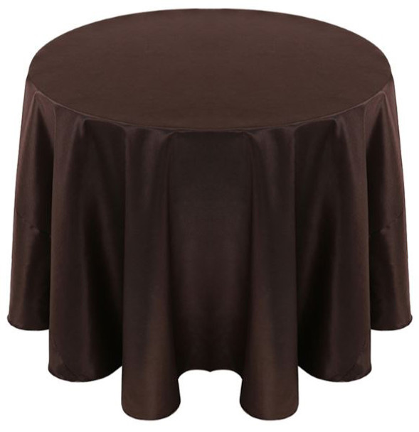 Solid Bengaline Textured Tablecloth Linen-Expresso