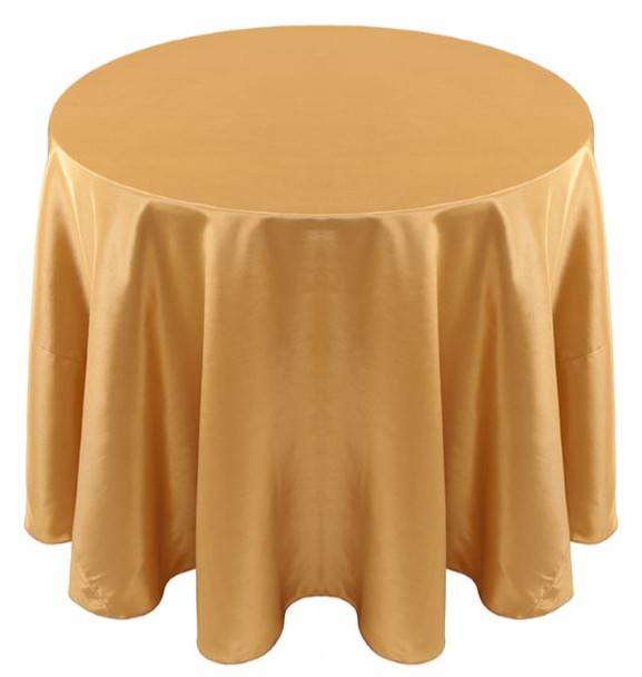 Solid Bengaline Textured Tablecloth Linen-Gold