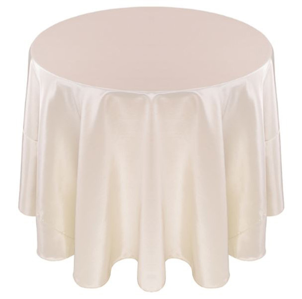 Solid Bengaline Textured Tablecloth Linen-Ivory