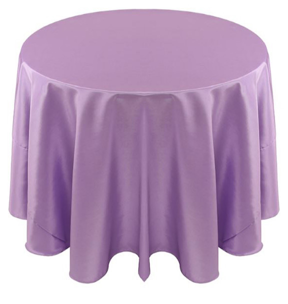 Solid Bengaline Textured Tablecloth Linen-Lavender