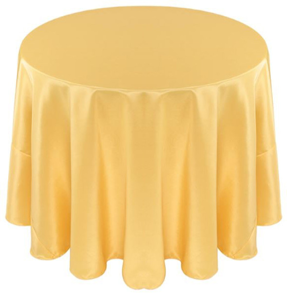 Solid Bengaline Textured Tablecloth Linen-Maize