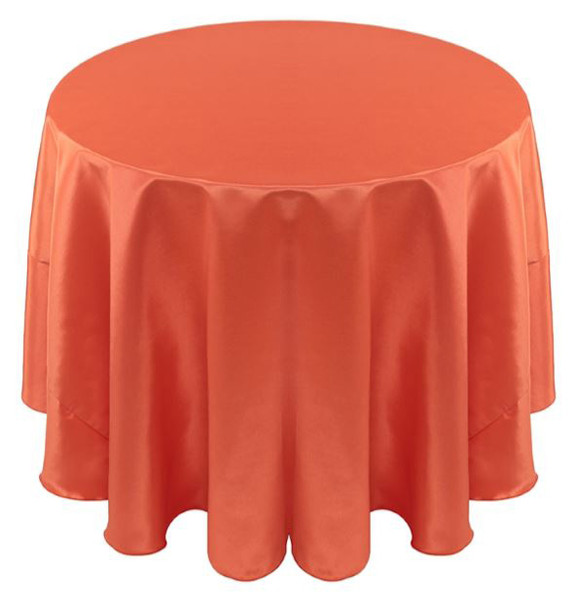 Solid Bengaline Textured Tablecloth Linen-Mango