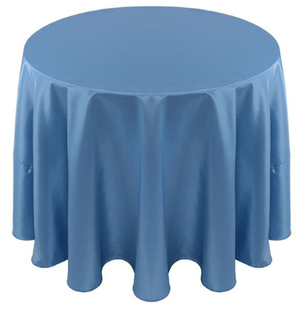 Solid Bengaline Textured Tablecloth Linen-Ocean