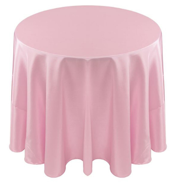 Solid Bengaline Textured Tablecloth Linen-Pastel Pink